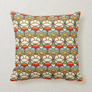 Mucha & Cliff (Colorful Art Nouveau) Pillow