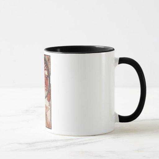 Mucha dance art deco lady mug