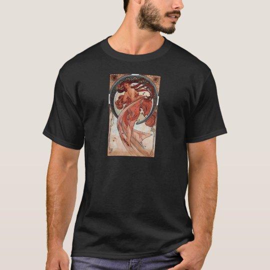 Mucha dance art deco lady T-Shirt