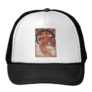 Mucha dance art deco lady trucker hat