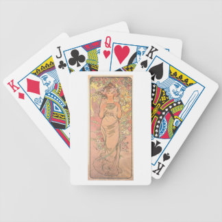 Mucha - Die Rose Bicycle Playing Cards