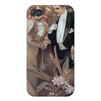 Mucha Flirt Man Woman Romantic Relationship iPhone 4/4S Cover