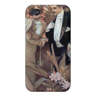 Mucha Flirt Man Woman Romantic Relationship iPhone 4 Cases