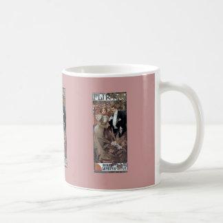 Mucha flirt woman man romantic love coffee mug