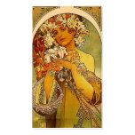 Mucha flowers Double-Sided standard business cards (Pack of 100)