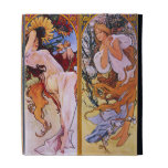 "Mucha ""Four Seasons"" Vintage Art iPad Folio Case"