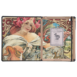 Mucha French Cookie Food Advertisement Covers For iPad