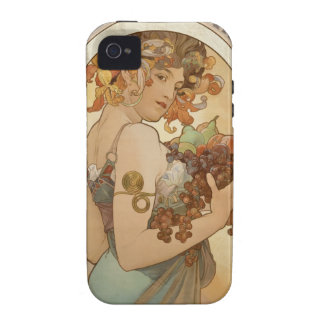 Mucha Fruits Vintage Design iPhone 4/4S Covers