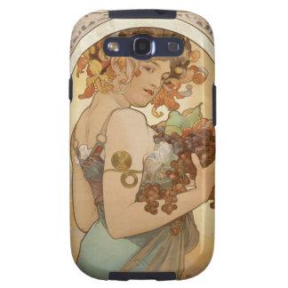 Mucha Fruits Vintage Design Samsung Galaxy SIII Cover