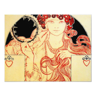 Mucha ~ Girl from Brooklyn Exhibition Poster Card
