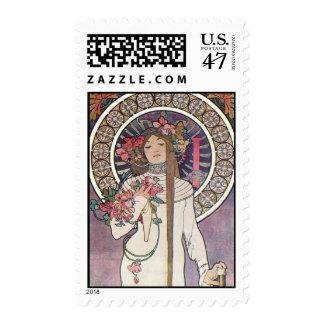 Mucha Goddess Postage