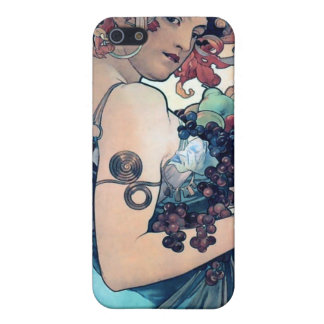 mucha grapes woman with fruit iPhone SE/5/5s case