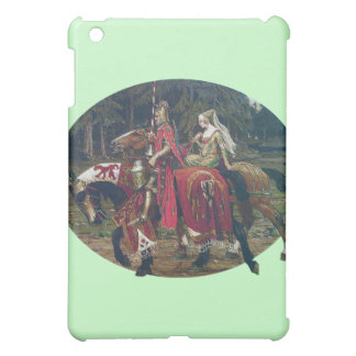 Mucha knight lady painting horses forest romantic cover for the iPad mini