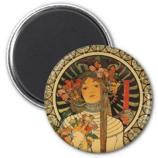 Mucha La Trappistine 2 Inch Round Magnet