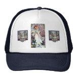 mucha lady with camelias thatre art nouveau hat