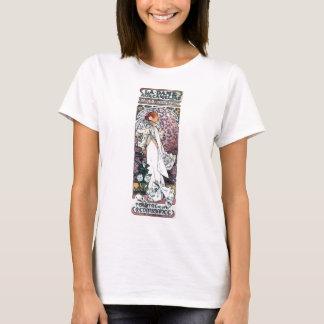 mucha lady with camelias thatre art nouveau T-Shirt