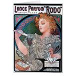 Mucha Lance Parfum Rodo perfume advertisement Card