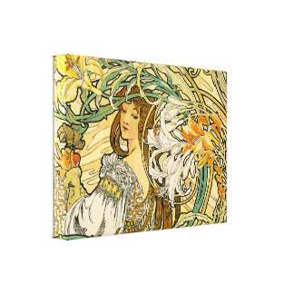Mucha:  Language of Flowers Canvas Print