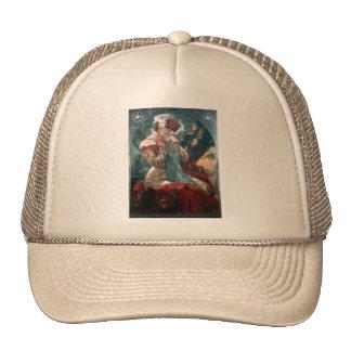 Mucha Lefevre-Utile art deco woman red dress Trucker Hat
