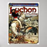 Mucha - Luchon - arte Nouveau - poster del casino