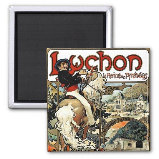 Mucha - Luchon -  Casino  -Art Nouveau Magnet