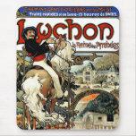 Mucha - Luchon - casino - arte Nouveau Tapetes De Ratones