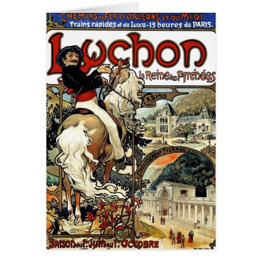 Mucha - Luchon - casino - arte Nouveau Felicitacion