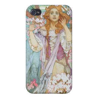 Mucha Maude Adams iPhone 4/4S Cases