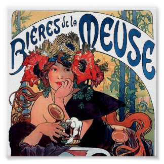 Mucha-Meuse-1890 Poster