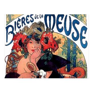 Mucha-Meuse-1890 Postcard