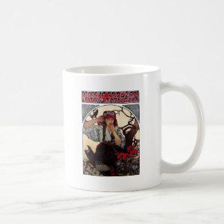 Mucha Moravian teachers girl raven sun nature Coffee Mug