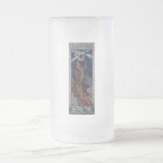 mucha morning star art nouveau poster woman coffee mugs