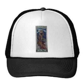 mucha morning star art nouveau poster woman trucker hat