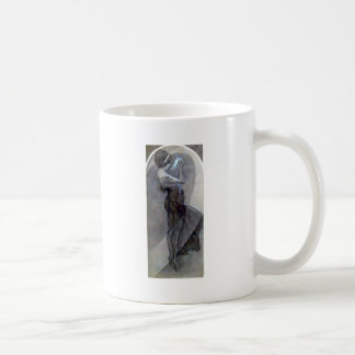 mucha north star art nouveau deco woman coffee mug