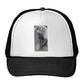 mucha north star art nouveau deco woman trucker hat