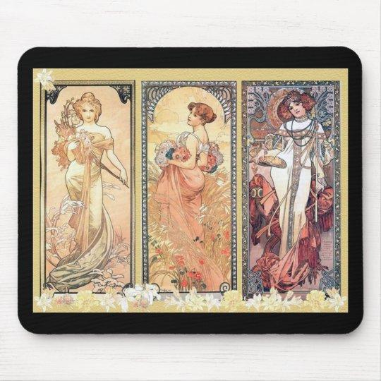 Mucha ~ Panel of Three Mouse Pad