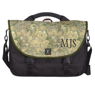 Mucha Peonies Laptop bag With Initials or Name