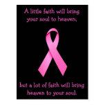 Mucha postal de la conciencia del cáncer de la fe