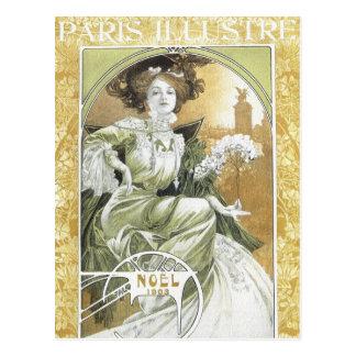 Mucha Postcard:   Alphonse Mucha - Art Nouveau Postcard