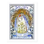 """Mucha Postcard:  """"Savon Notre-Dame Postcard"""