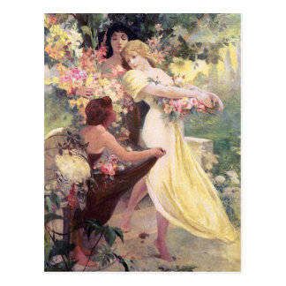 Mucha Postcard:  Spirit of Spring Postcard