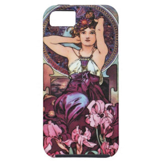 Mucha Poster Art Nouveau i Phone 5 Case iPhone 5 Cases