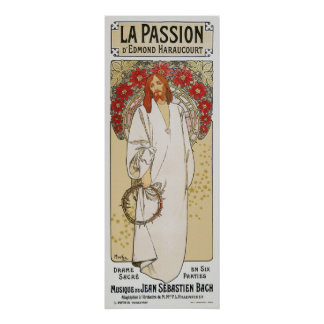 Mucha Poster: La Passion/ The Passion of Christ Poster