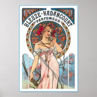 Mucha Poster Print:  Perfume Ad