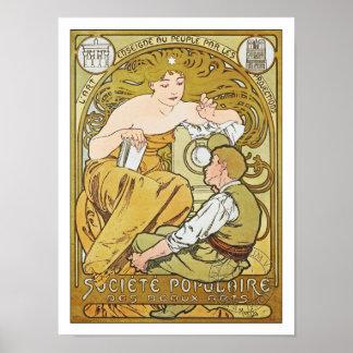 Mucha Poster: Société Populaire des Beaux-Arts Poster