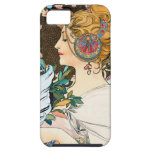 Mucha Primrose and Feather iPhone 5 Cover