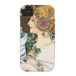 Mucha Primrose and Feather Vibe iPhone 4 Covers