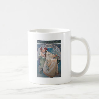 Mucha princess hyacinta lady blue dress coffee mug