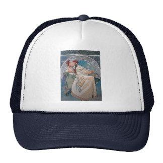 Mucha princess hyacinta lady blue dress trucker hat