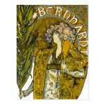 Mucha - Sarah Bernhardt - Gismonda Tarjetas Postales